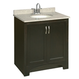 Ventura 30 in. W x 21 in. D Two Door Unassembled Vanity Cabinet Only in Espresso #541250
