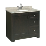 Ventura 36 in. W x 21 in. D One Door Two Drawer Unassembled Vanity Cabinet Only in Espresso #541284