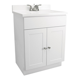 "Fully Assembled 2-Door Vanity with Top, 24"", White, #541607"