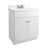 "Fully Assembled 2-Door Vanity with Top, 31"", White, #541615"