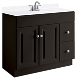 Wyndham 36 in. W x 21 in. D Ready to Assemble Bath Vanity Cabinet Only in Espresso #542803