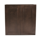 Brookings Ready to Assemble 21x36x12 in. Shaker Style Kitchen Wall Cabinet 1-Door in Espresso #543033