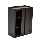Brookings Ready to Assemble 24 in. x 30 in. x 12 in. Shaker Style Kitchen Blind Wall Cabinet 1-Door in Espresso #543256
