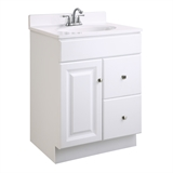Wyndham 24 in. W x 18 in. D Unassembled Vanity Cabinet Only in White Semi-Gloss #545004
