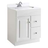 Wyndham 24 in. W x 21 in. D Unassembled Vanity Cabinet Only in White Semi-Gloss #545053