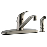 Middleton Single-Handle Standard Kitchen Faucet with Side Sprayer, Satin Nickel #545855