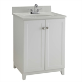 "Shorewood Unassembled Vanity without Top, 24"", White Finish #547117"