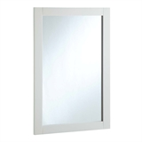 Shorewood 20 in. W x 30 in. H Wall Mounted Vanity Decor Mirror in Semi-Gloss White #547208