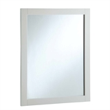 24 in. W x 30 in. H Wall Mounted Vanity Decor Mirror in Semi-Gloss White #547216