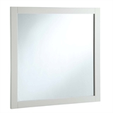 "Vanity Mirror 30"", Solid Wood Frame, White Finish #547224"