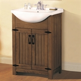 "Austin Fully Assembled Vanity with Top, 24"", Weathered Gray, #547505"