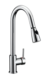 Eastport Single-Handle Pull-Down Sprayer Kitchen Faucet, Polished Chrome #547869