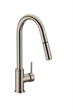 Eastport Single-Handle Pull-Down Sprayer Kitchen Faucet in Satin Nickel #548305