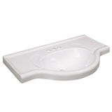 Euro Vanity Top 25 in. x 17.5 in. in Solid White #550178