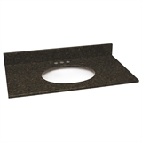 Granite Vanity Top/Single Bowl, Uba Tuba, 25-Inch by 22-Inch #552521