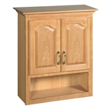 Richland 26 3/4 in. W x 30 in. H x 10 3/8 in. D Unassembled Bathroom Storage Wall Cabinet with Shelf in Nutmeg Oak #552844