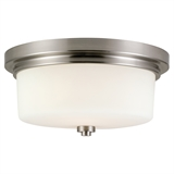 Aubrey Two-Light Flush Mount Ceiling Light, Satin Nickel Finish #556654