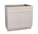"Brookings 42"" Base Cabinet, White Shaker #561415"