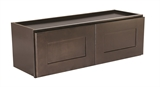 Ready to Assemble 30x12x18 in. Brookings Shaker Style 2-Door Wall Cabinet in Espresso #562256