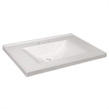 31-inch x 22-inch Contempo Cultured Marble Vanity Top in Solid White #563460-WHT