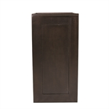 Brookings Fully Assembled 12x36x12 in. Shaker Style Kitchen Wall Cabinet 1-Door in Espresso #568972