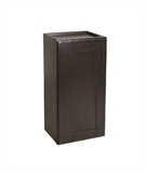 Brookings Fully Assembled 21x36x12 in. Shaker Style Kitchen Wall Cabinet 1-Door in Espresso #568998