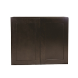 Brookings Fully Assembled 24x36x12 in. Shaker Style Kitchen Wall Cabinet 2-Door in Espresso #569004