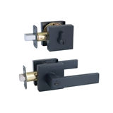 Karsen 2-Way Adjustable Entry Lever Combo in Matte Black #582387