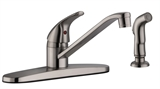 Middleton Single Handle Standard Kitchen Faucet with Side Spray, Satin Nickel #583997