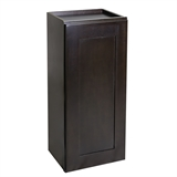 Ready to Assemble 9x30x12 in. Brookings Shaker Style 1-Door Wall Cabinet in Espresso #586503