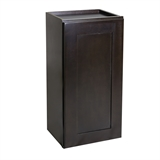 Assembled 9x30x12 in. Brookings Shaker Style 1-Door Wall Cabinet in Espresso #586511