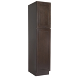Ready to Assemble 18x90x24 in. Brookings Shaker Style 2-Door Pantry Cabinet in Espresso #586529