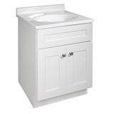 Brookings Ready to Assemble 24 in. W x 21 in. D 2-Door Shaker Style Bath Vanity Cabinet Only in White #586933