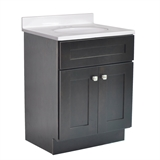 Brookings Ready to Assemble 24 in. W x 18 in. D 2-Door Shaker Style Bath Vanity Cabinet Only in Espresso #586966