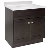 Brookings Ready to Assemble 30 in. W x 21 in. D 2-Door Shaker Style Bath Vanity Cabinet Only in Espresso #586982