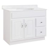 Concord 36 in. x 21 in. x 30 in. 2-Door 2-Drawer White Vanity without Top #587022