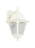 Edwardo 12-Watt Integrated LED White Outdoor Wall Mount Sconce #587956