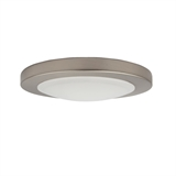 Paxton 7 in. Brushed Nickel LED Flush Mount Ceiling Light #588152