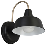 Mason Matte Black and Gold Outdoor Wall Mount Barn Light Sconce #588285