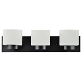Dove Creek 3-Light Matte Black Bath Light #588418