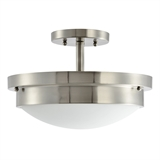 Harris 2-Light Dual Mount Ceiling Light in Satin Nickel #588475