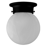 Millbridge 1-Light Matte Black Ceiling Light Fixture #588483