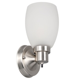 Lydia 1-Light Wall Light in Satin Nickel #588814-SN