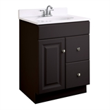 Wyndham 24 in. W x 18 in. D Ready to Assemble Bath Vanity Cabinet Only in Espresso #597187