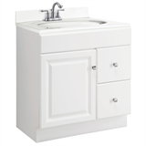 Wyndham 30 in. W x 21 in. D Unassembled Vanity Cabinet Only in White #597211