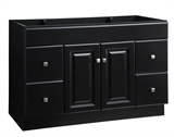 Wyndham 48 in. W x 21 in. D Ready to Assemble Bath Vanity Cabinet Only in Espresso #597294