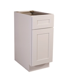 "Brookings 15"" Fully Assembled Kitchen Base Cabinet, White Shaker #613133"