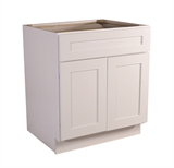 "Brookings 27"" Fully Assembled Kitchen Base Cabinet, White Shaker #613174"