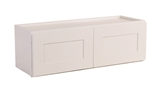 "Brookings 36"" Fully Assembled Kitchen Wall Cabinet, White Shaker #613471"