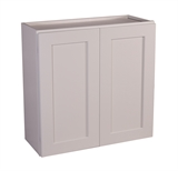 "Brookings 30"" Fully Assembled Kitchen Wall Cabinet, White Shaker #613547"